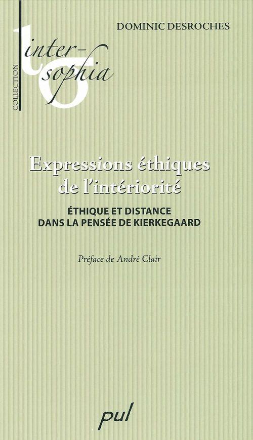 Expressions éthiques de l'intériorité