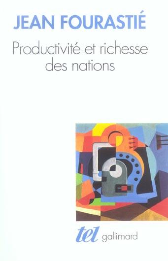 Productivite et richesse des nations