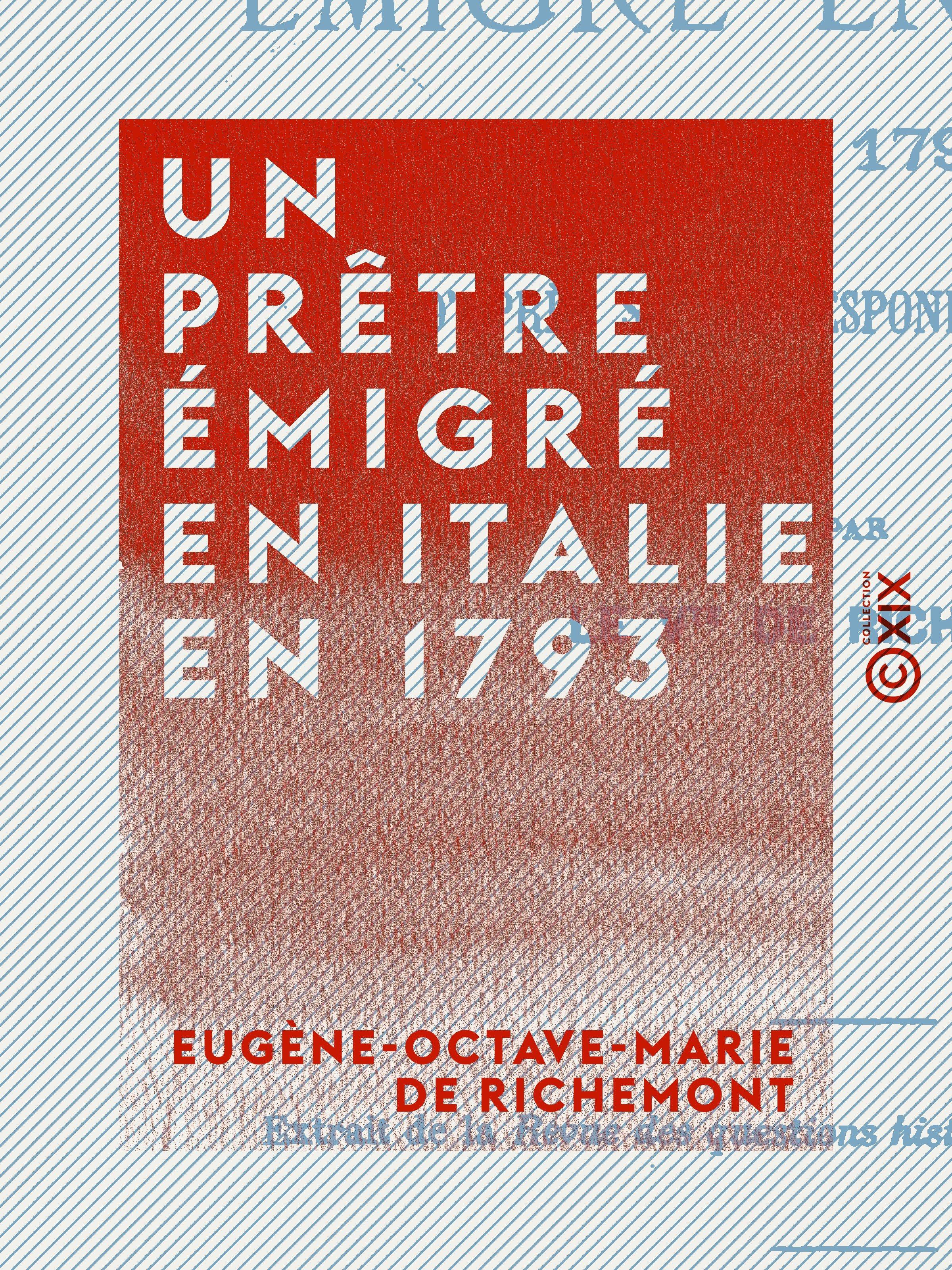 Un prêtre émigré en Italie en 1793