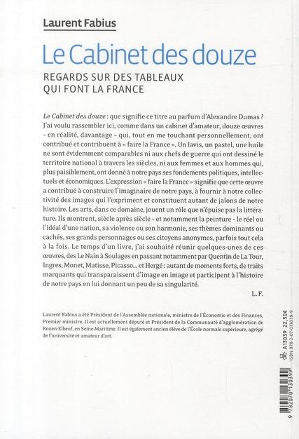 Le cabinet des douze ; regards sur des tableaux qui font la France