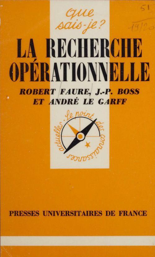 La Recherche opérationnelle