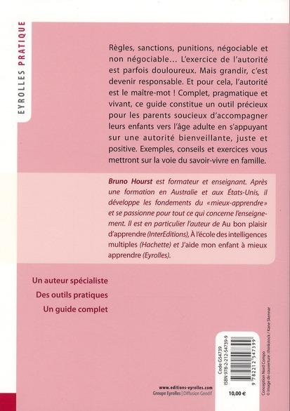 J Aide Mon Enfant A Bien Vivre L Autorite Bruno Hourst Jileme Eyrolles Grand Format Librairies Autrement