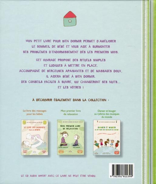 Mon petit livre pour bien dormir ; activités de détente, massages, berceuses