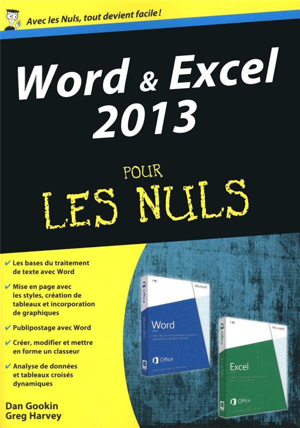 Word et excel 2013 pour les nuls