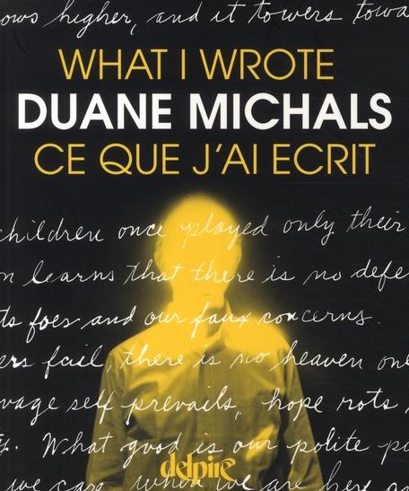 What I wrote / ce que j'ai écrit