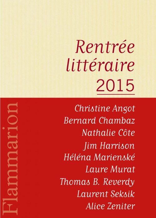 Flammarion : catalogue de la rentrée littéraire 2015