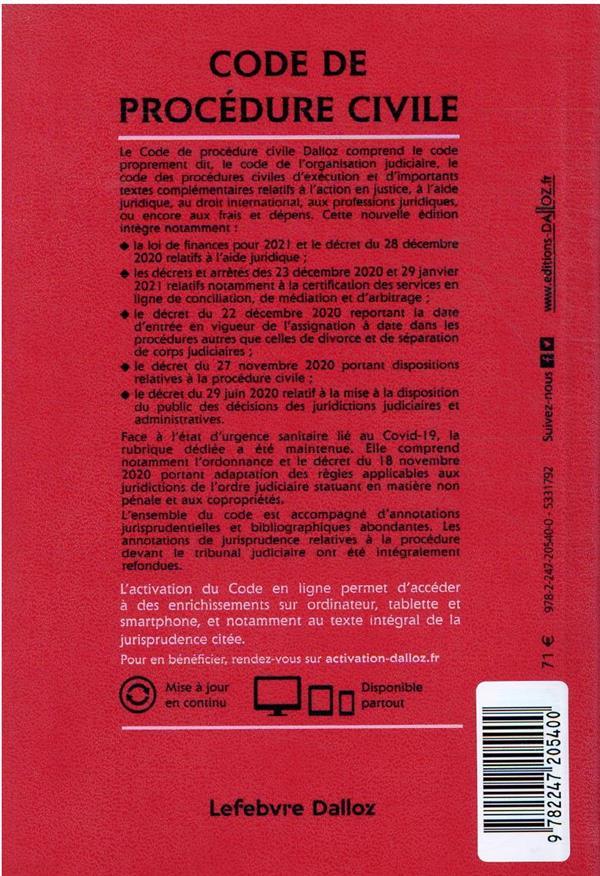 code de procédure civile annoté (édition 2022)