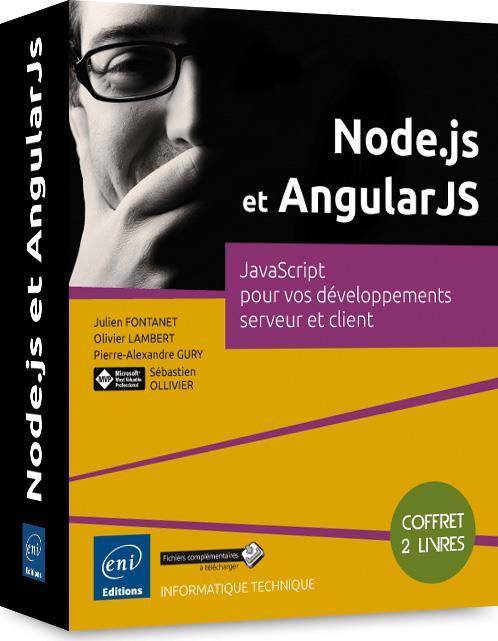Node.js et AngularJS ; coffret ; JavaScript pour vos développements serveur et client