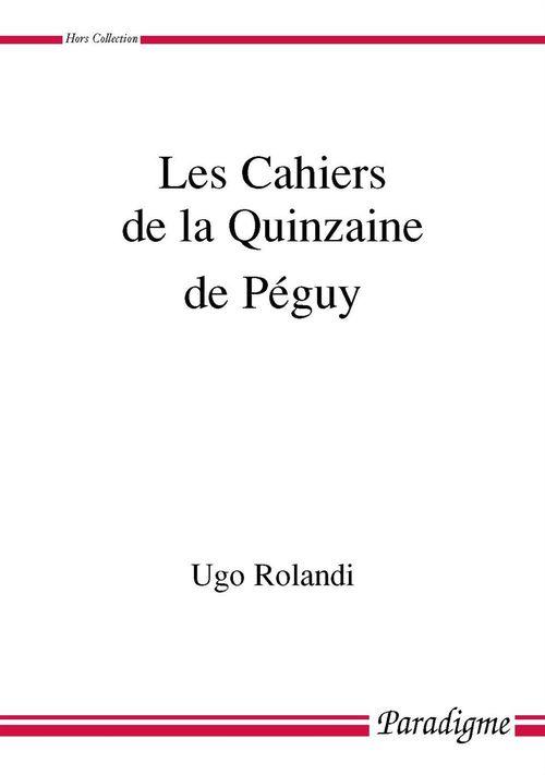 Les cahiers de la quinzaine de Péguy