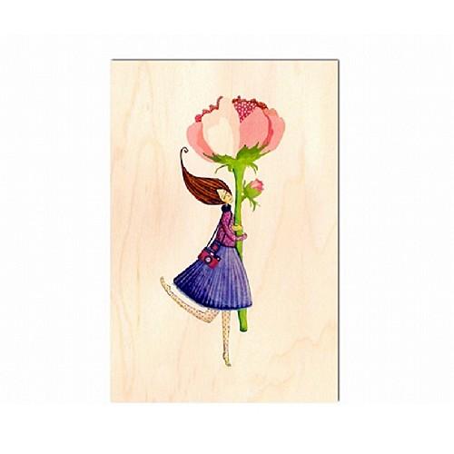 Mes vœux les plus chaleureux, carte postale en bois