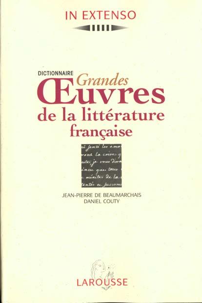 Les grandes oeuvres de la litterature francaise