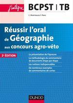 Vente Livre Numérique : Réussir l'oral de Géographie aux concours agro-véto - 2ed  - Frank Paris - Claude Martinaud