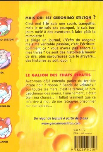Geronimo Stilton T.2 ; le galion des chats pirates