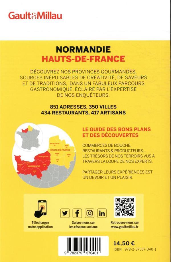 Guide Normandie-Hauts-de-France ; 350 villes - 434 restaurants - 417 artisans (édition 2021)