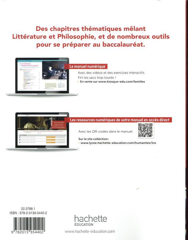 humanités, littérature et philosophie ; 1ere spécialité ; livre de lélève (édition 2019)
