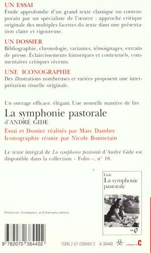 la symphonie pastorale d'andre gide (essai et dossier)