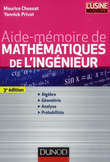 Aide-Memoire De Mathematiques De L'Ingenieur (3e Edition)