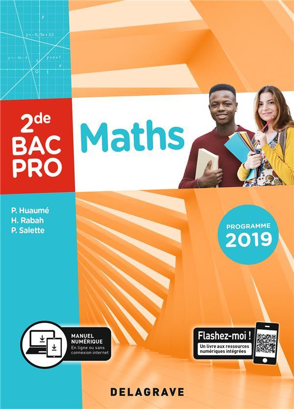 Maths ; 2de, bac pro ; pochette élève (édition 2019)