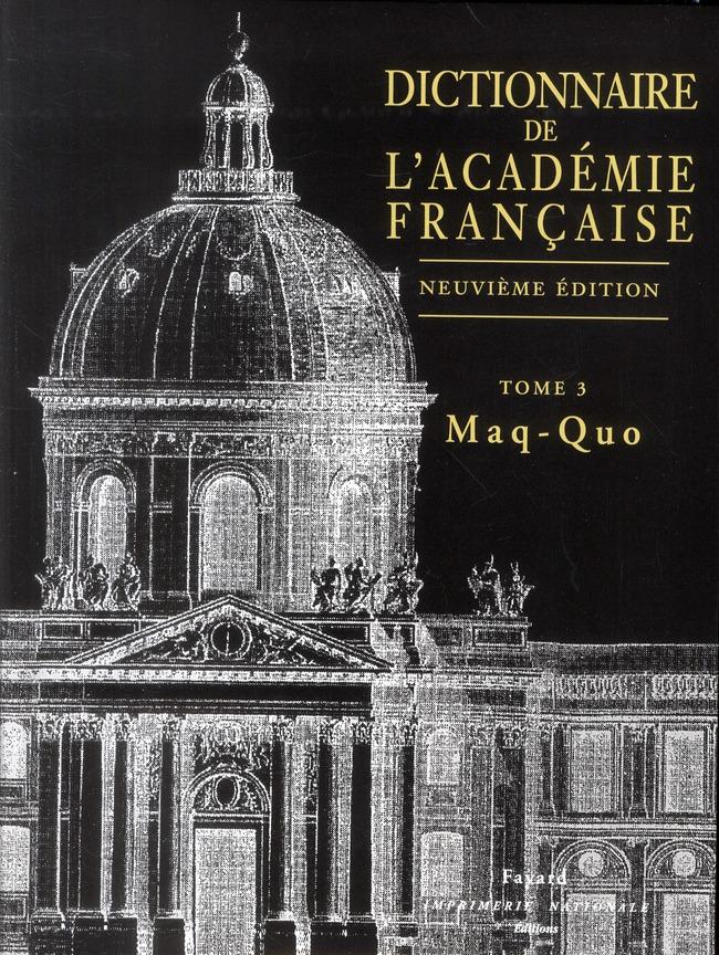 Dictionnaire De L'Academie Francaise