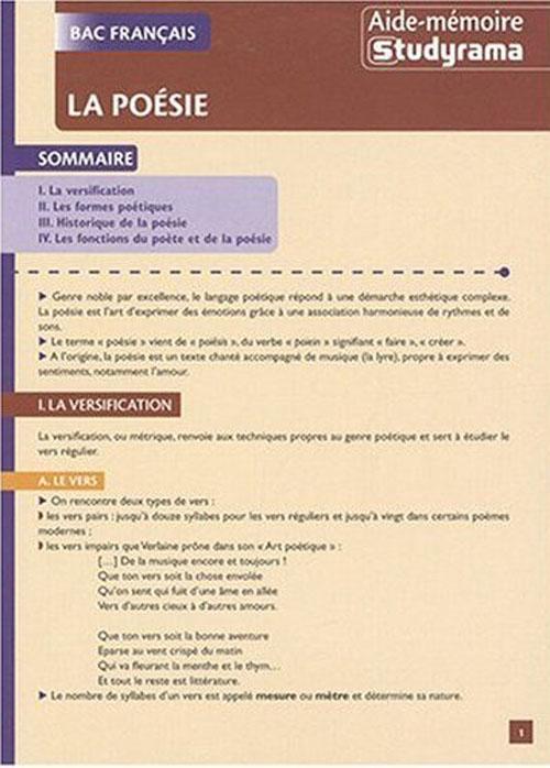 Poesie (La) (Bac Francais)