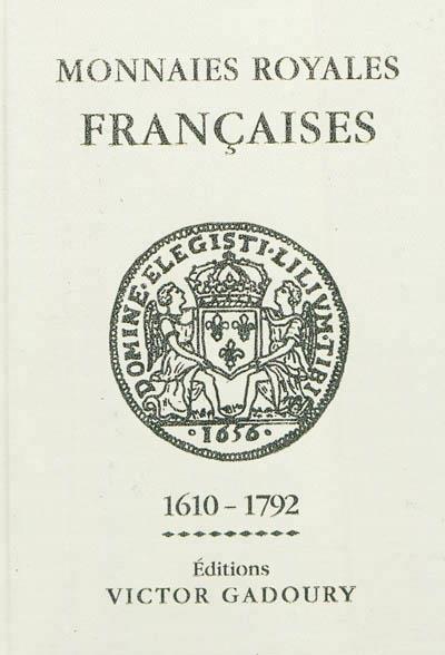Monnaies royales françaises 1610-1792