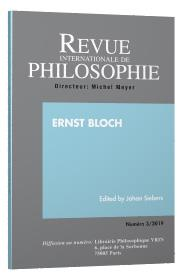 Revue internationale de philosophie n.289 ; ernst bloch