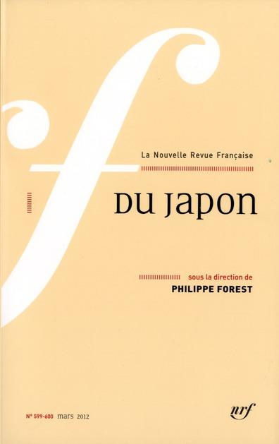 La nouvelle revue francaise ; du japon