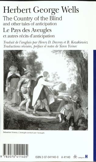 Le pays des aveugles ; et autres récits d'anticipation ; the country of the blind ; and other tales of anticipation
