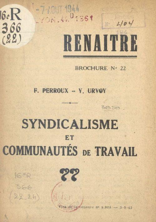 Syndicalisme et communautés de travail