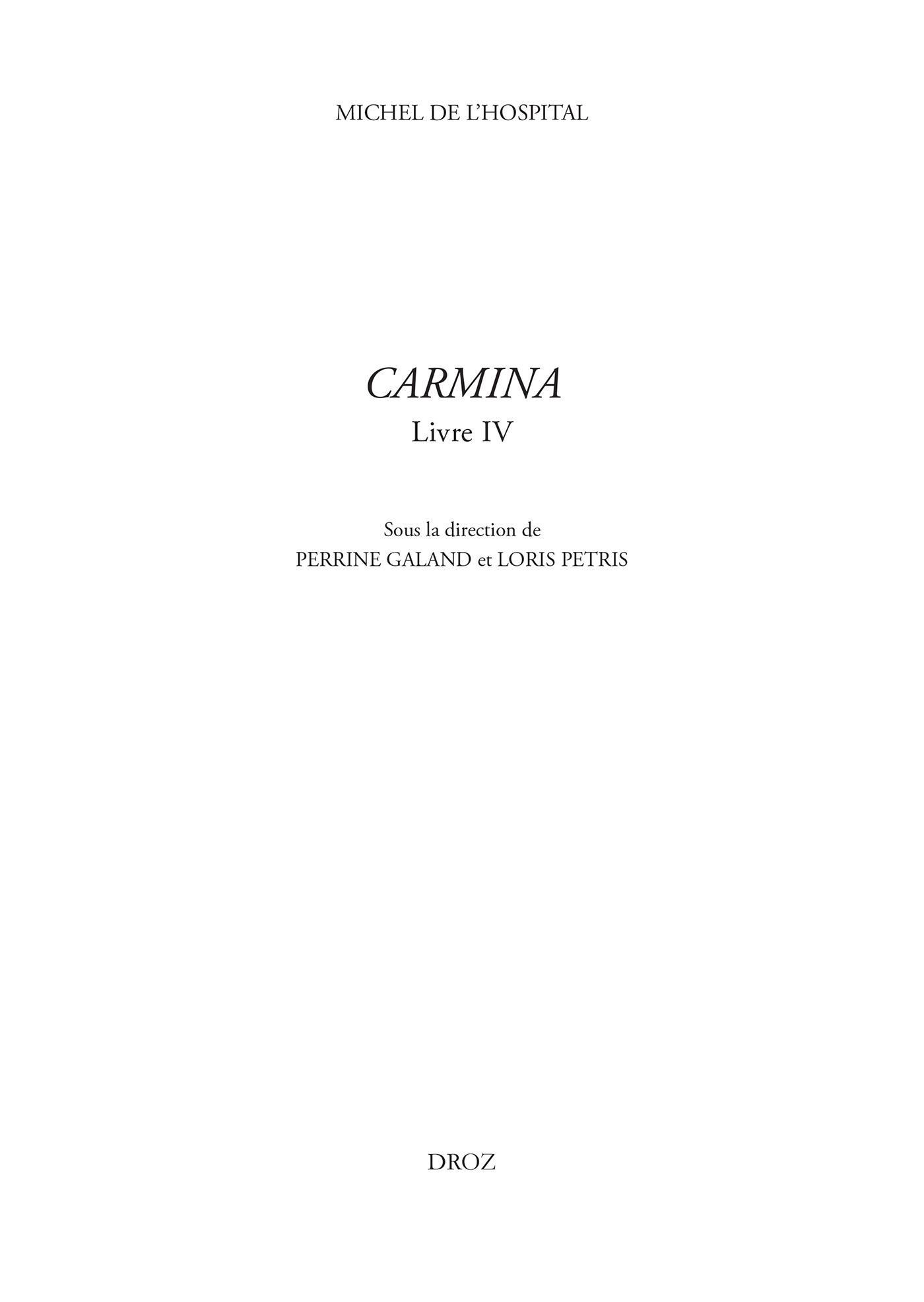 Carmina - livre iv
