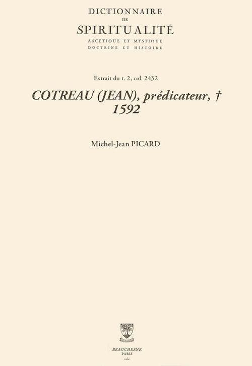 COTREAU (JEAN), prédicateur, + 1592