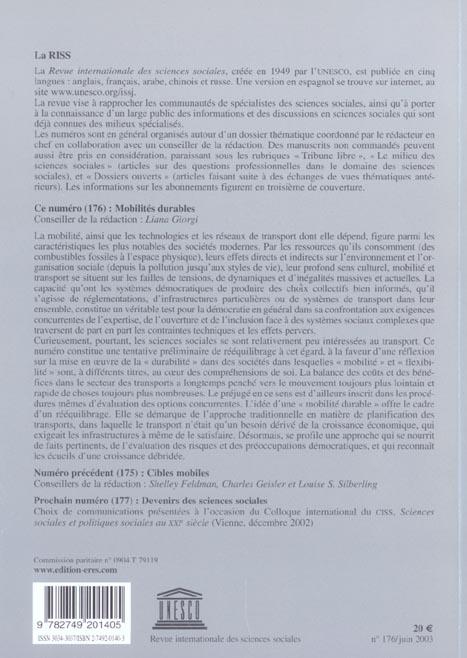 Riss t.176 ; mobilites durables
