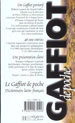 Gaffiot de poche ; dictionnaire latin-français