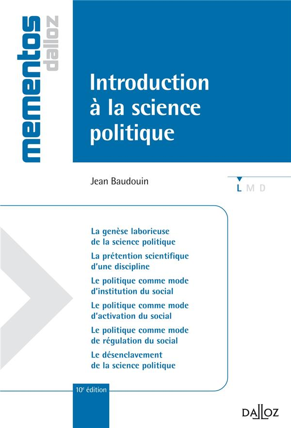 Introduction A La Science Politique (10e Edition)