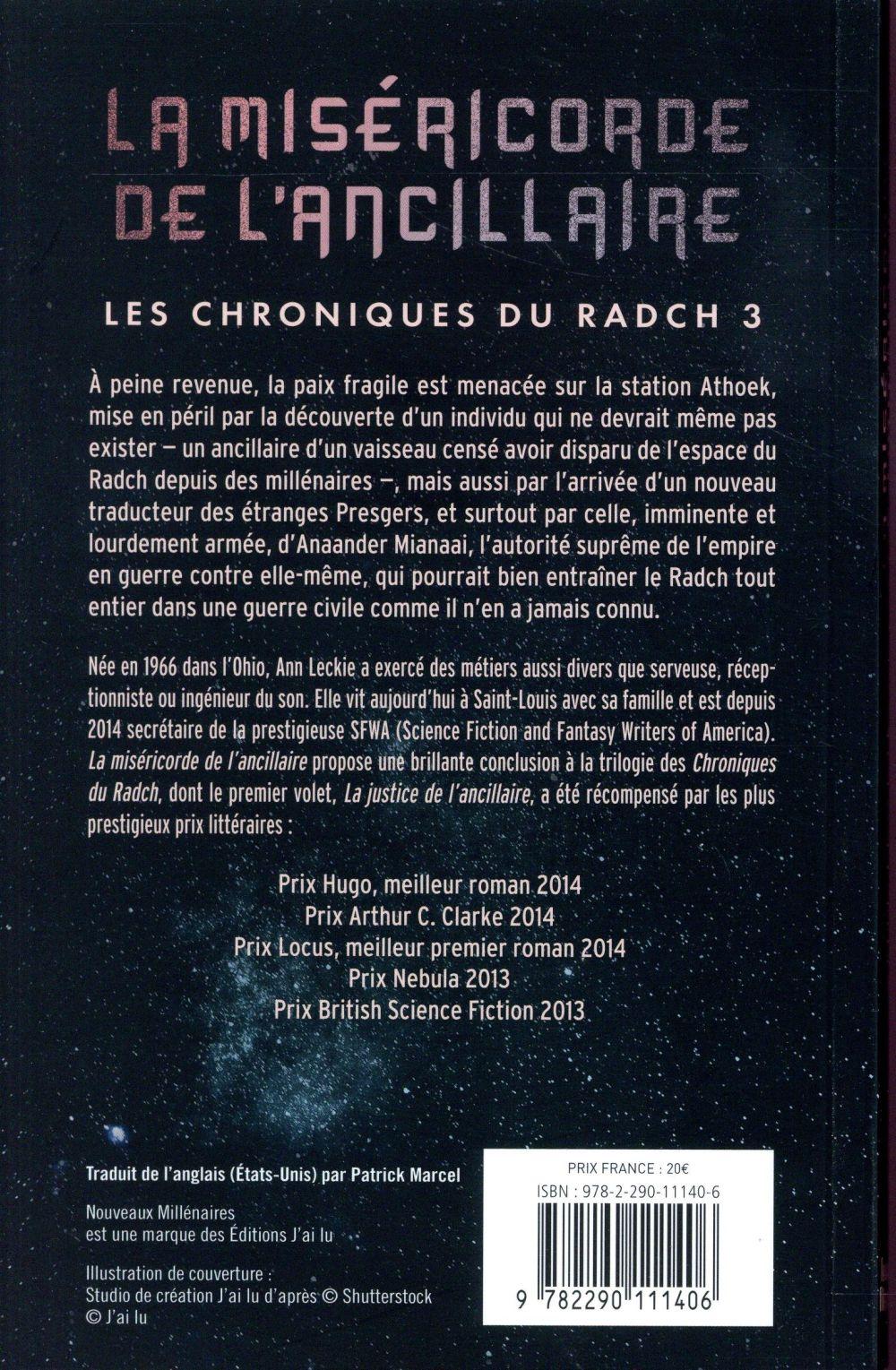 Les chroniques du Radch T.3 ; la miséricorde de l'ancillaire