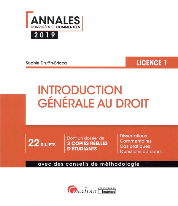 introduction générale au droit ; licence 1 (édition 2019)