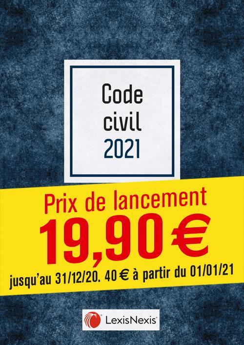 Code civil ; jaquette blue (édition 2021)