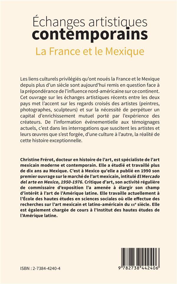 échanges artistiques contemporains ; la France et le Mexique