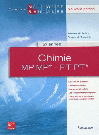 Chimie ;MP, MP*, PT, PT*, 2ème année