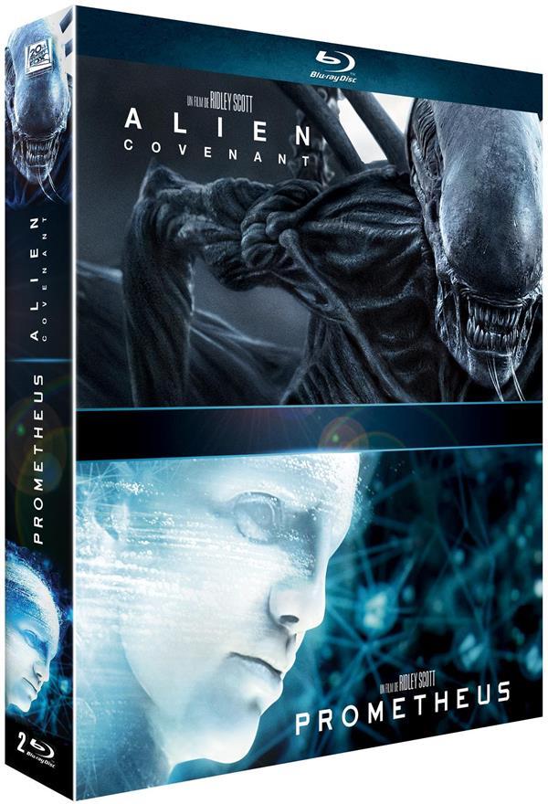 coffret alien 2 films : Covenant ; Prometheus