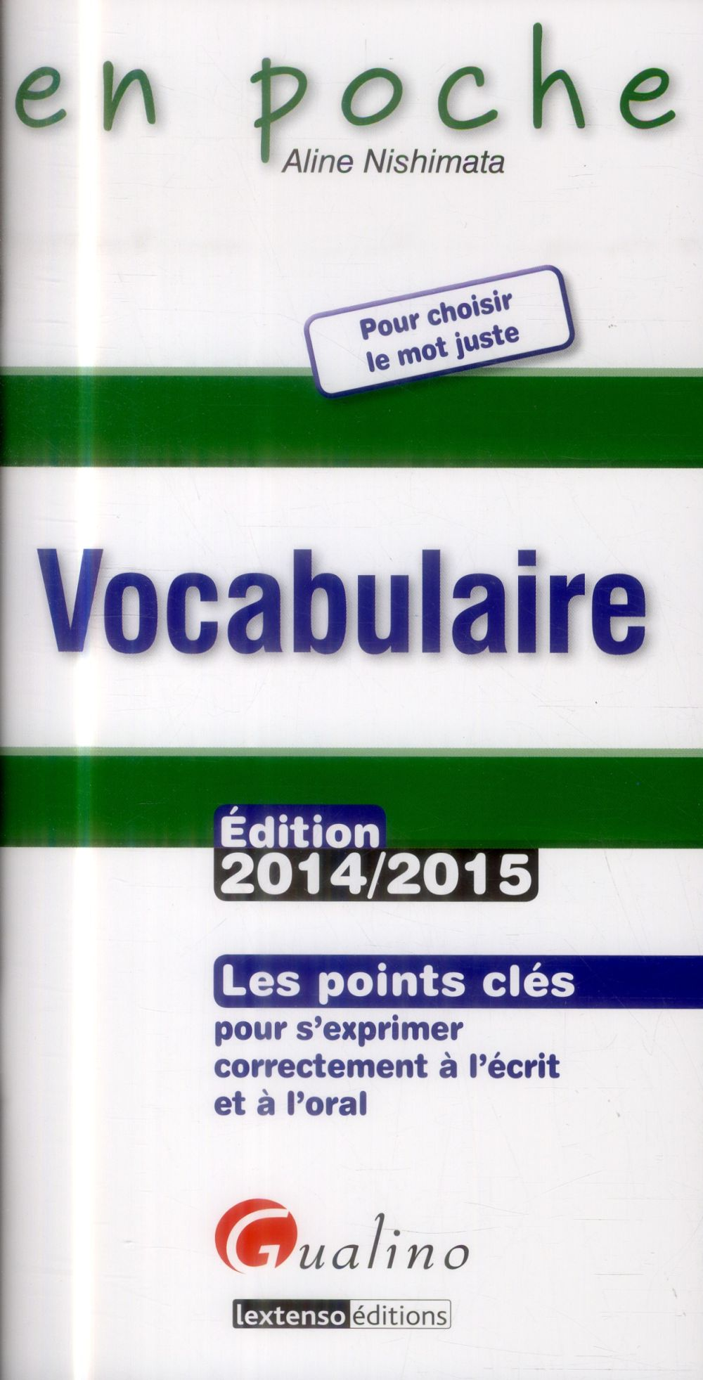 Vocabulaire (édition 2014-2015)