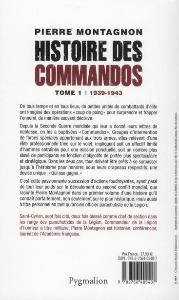 Histoire des commandos t.1 ; 1939-1943