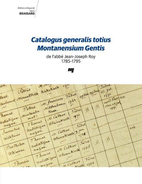 Catalogus generalis totius montanensium gentis de l'abbe jean-joseph roy 1785-17