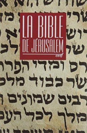 Bible de jerusalem poche reliee rouge sous coffret