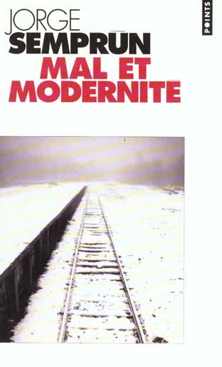 Mal et modernité ; vous avez une tombe au creux des nuages