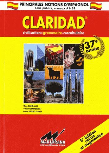 Claridad ; grammaire, civilisation, vocabulaire (5e édition)
