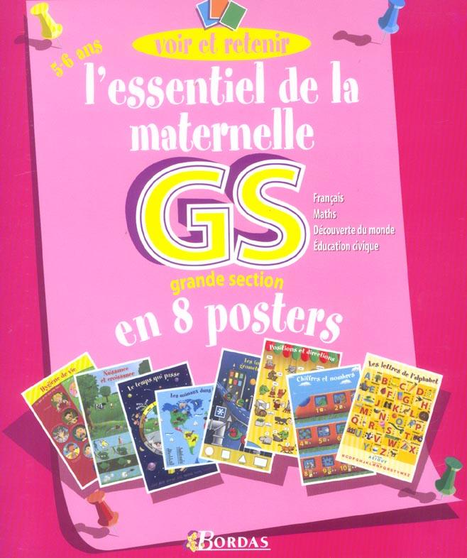L'essentiel DE LA MATERNELLE GS en 8 posters