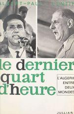 L'Algérie entre deux mondes (1)