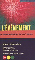 L'evenement  - Lionel Chouchan - L Chouchan