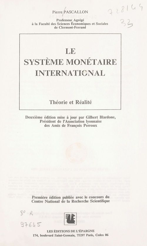 Systeme monetaire inter